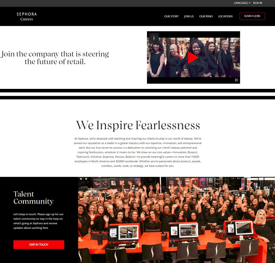 Sephora Company Career Site
