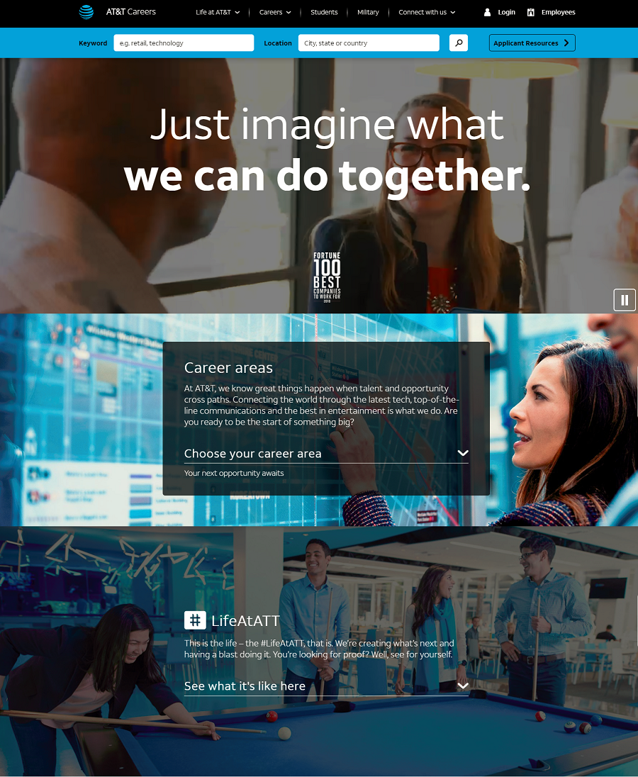 AT&T Company Career Site