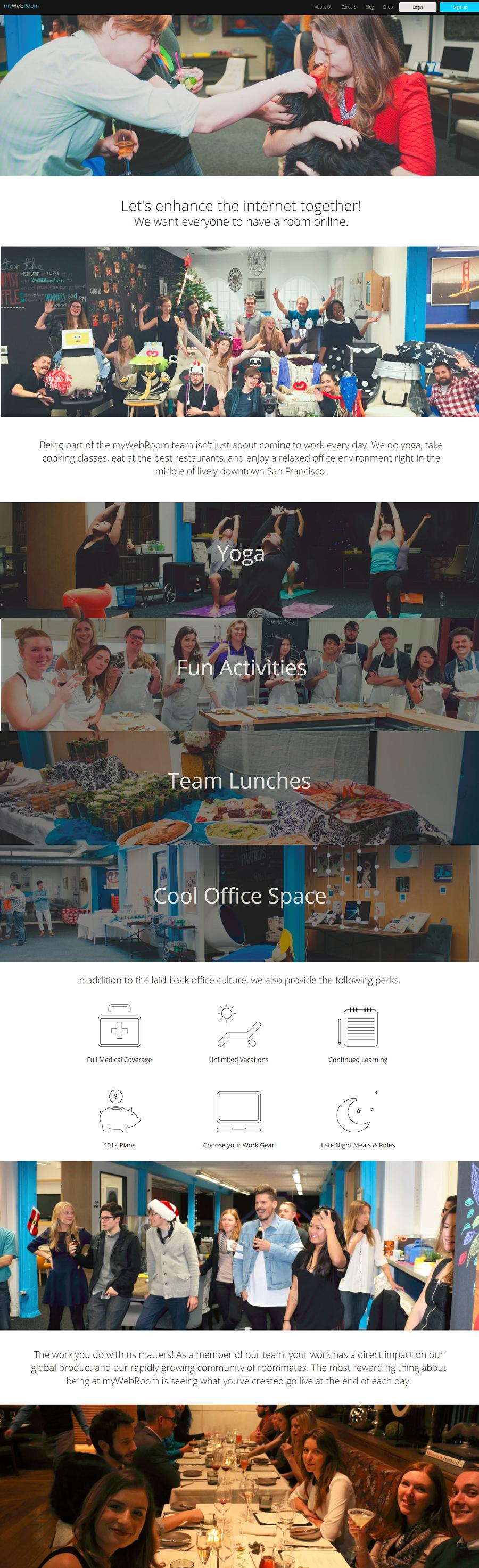 myWebRoom Company Career Site