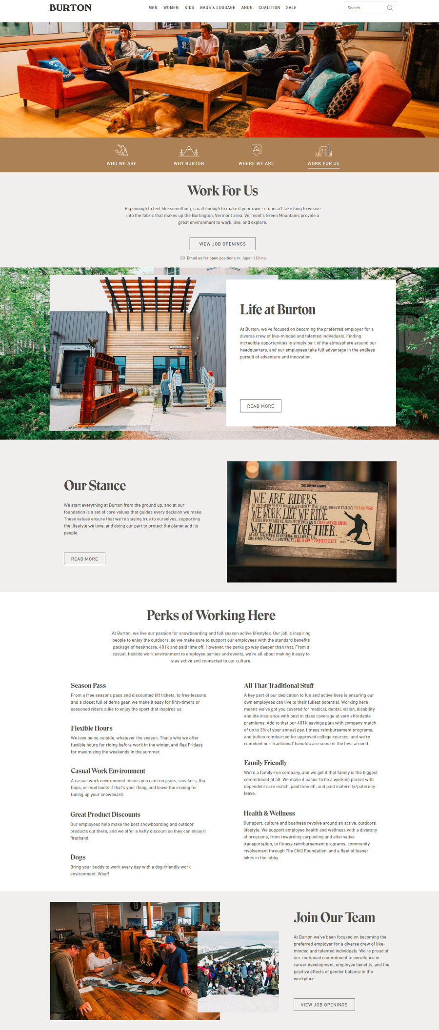 Burton Company Career Site
