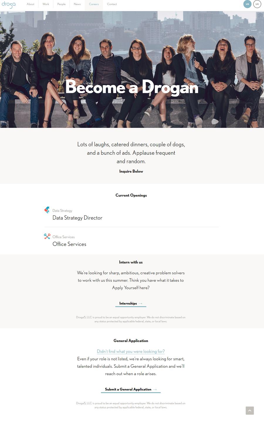 Droga5 Company Career Site