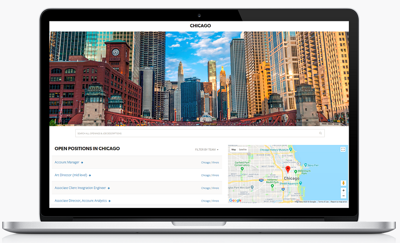 Instant recruiting microsite for Chicago