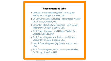 Recommended Jobs Widget