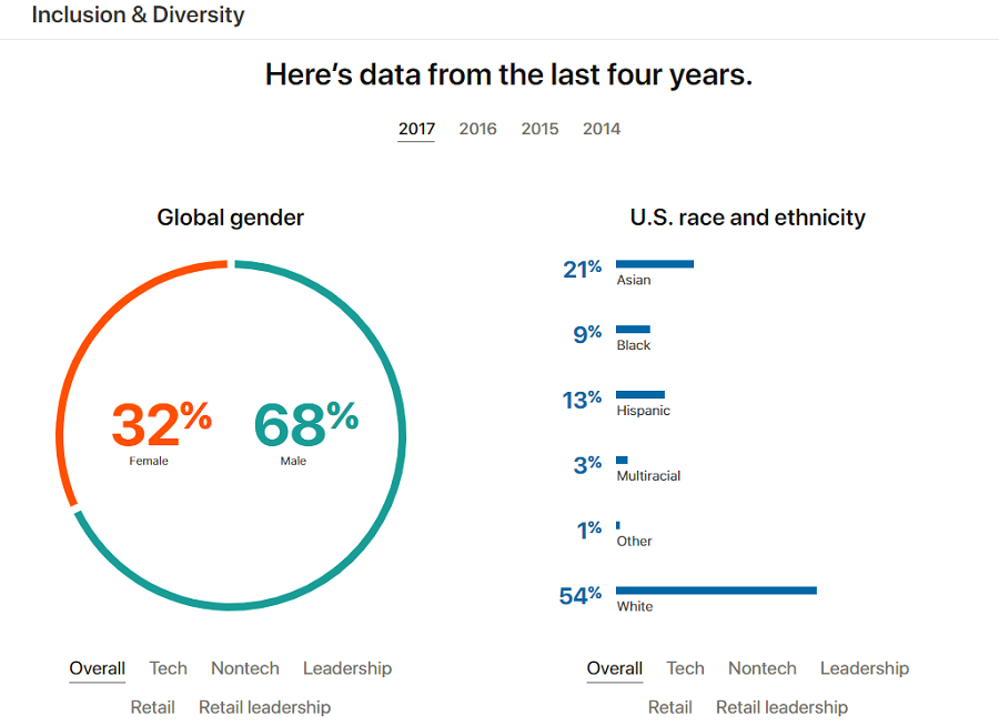 Diversity chat from Apple's company career site