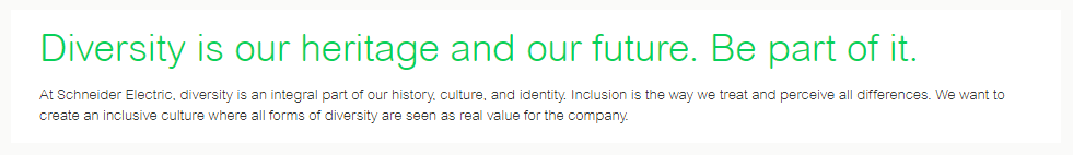 Schneider Electric Diversity Statement
