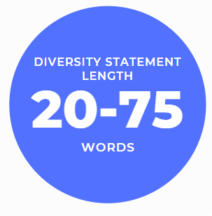 how long should your diversity statement be