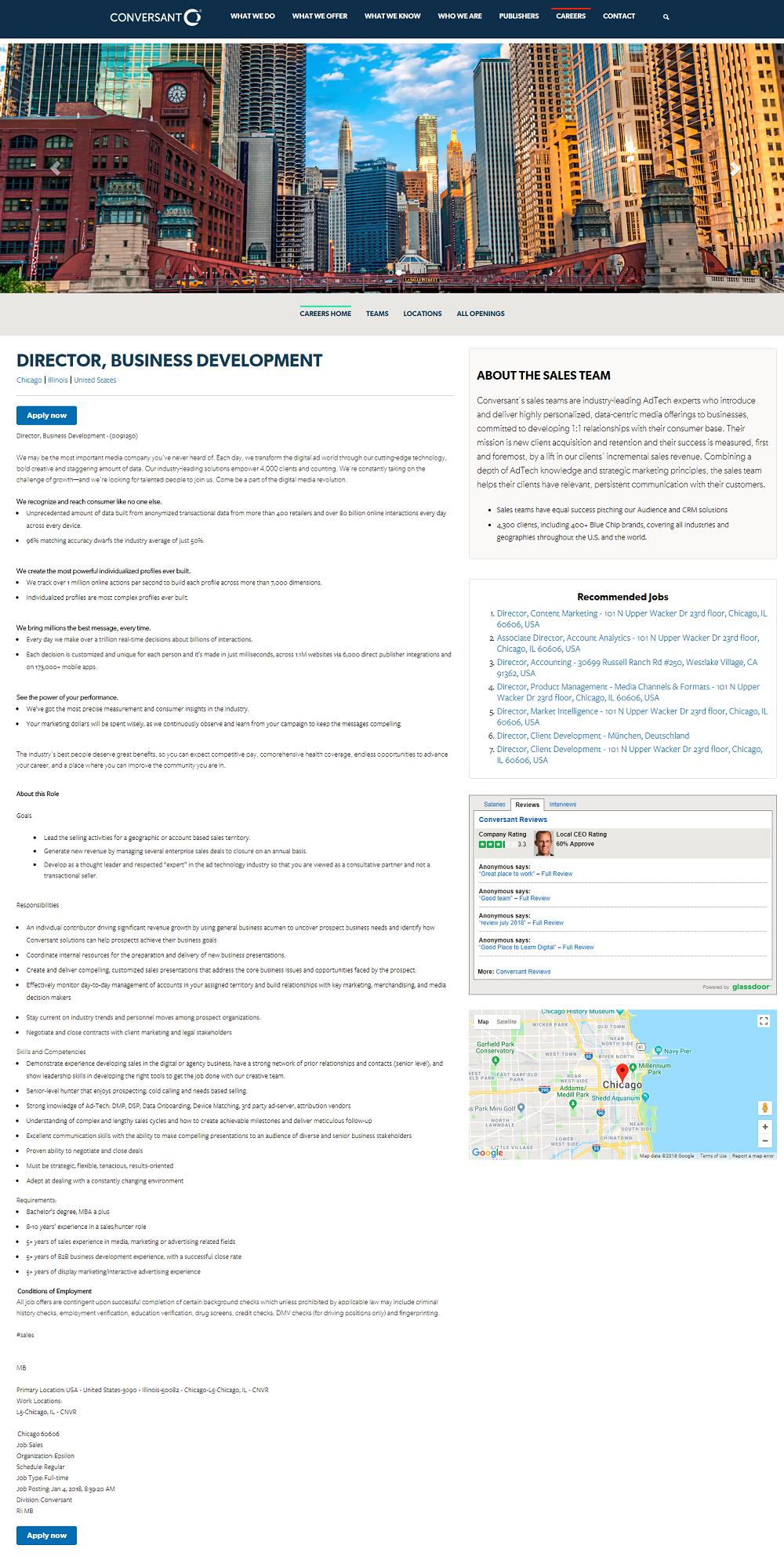 Conversant Job Page Overlay