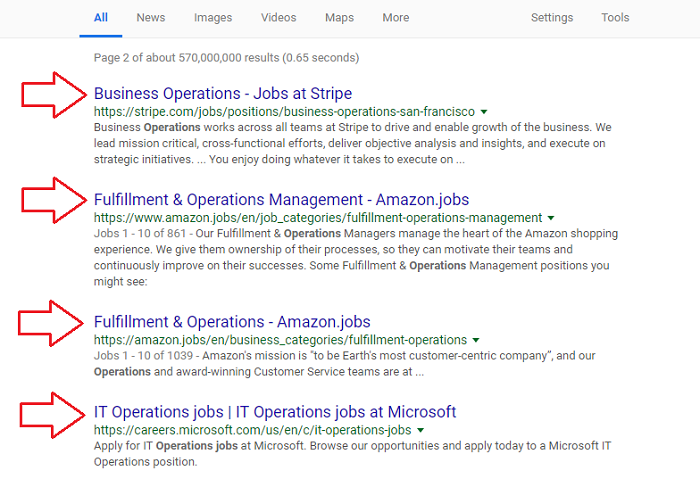 Title tags in Google search