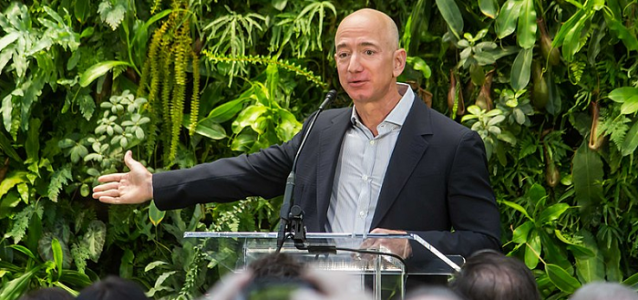 Jeff Bezos speaking
