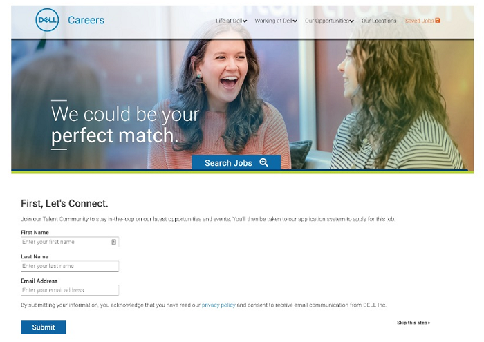 dell inserts join our talent community before application on job rh blog ongig com