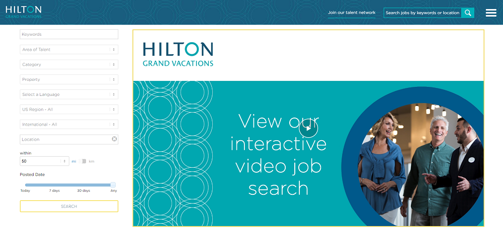 Hilton Interactive Video Job Search