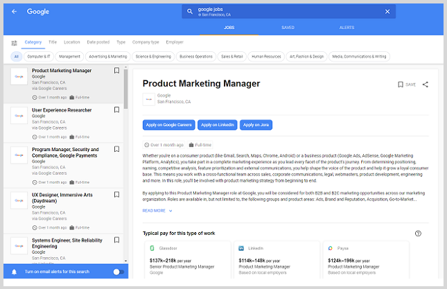 Job search embed on career page