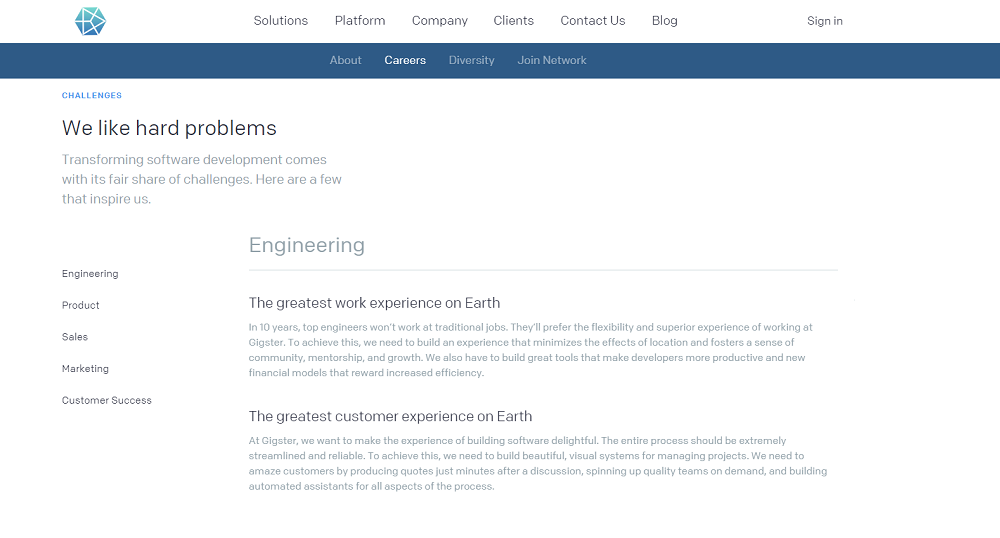 Gigster Company Career Page