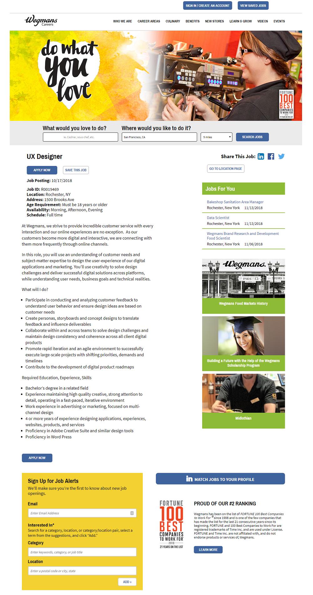 Wegmans job description