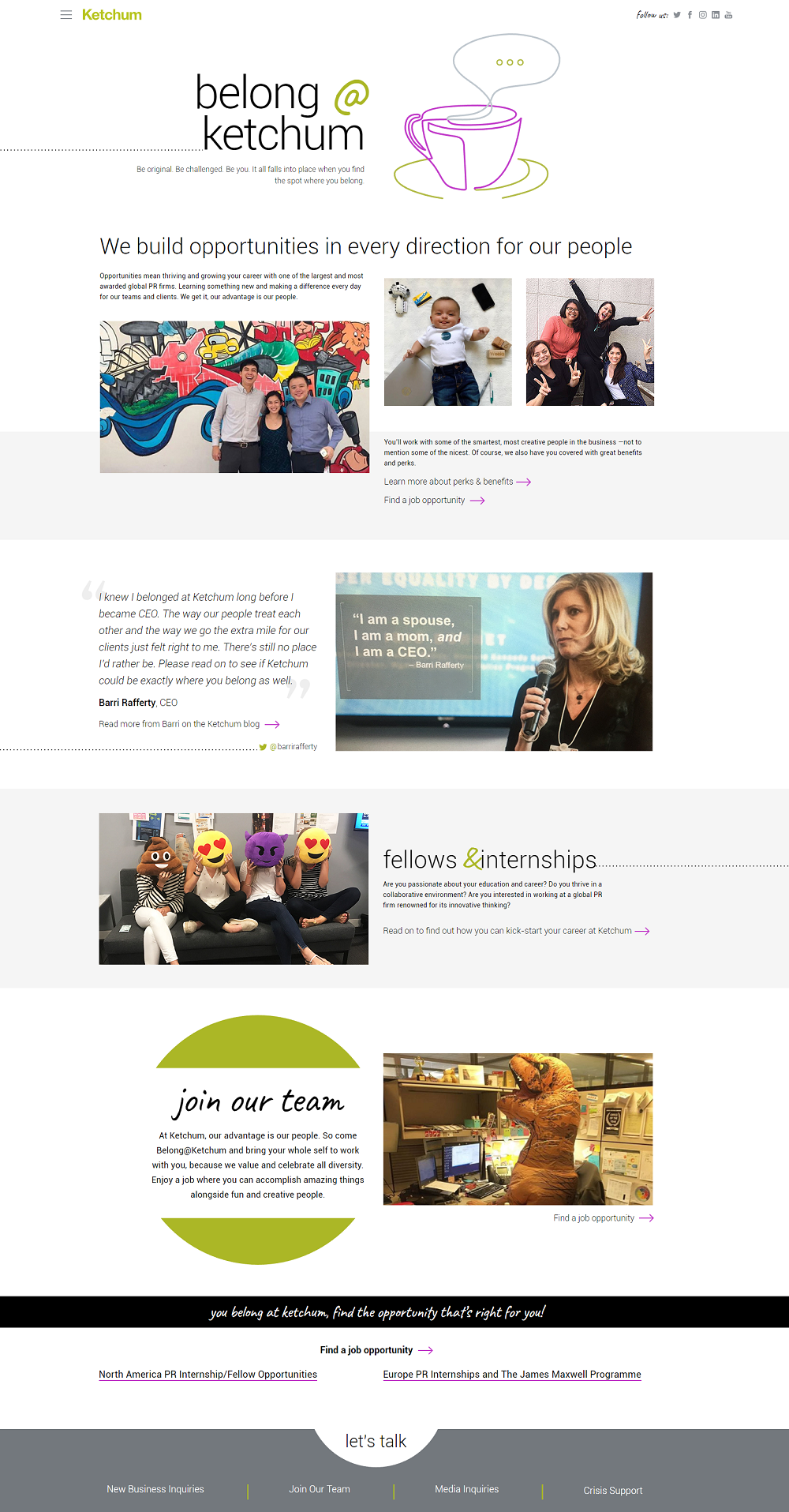 Ketchum Career Page
