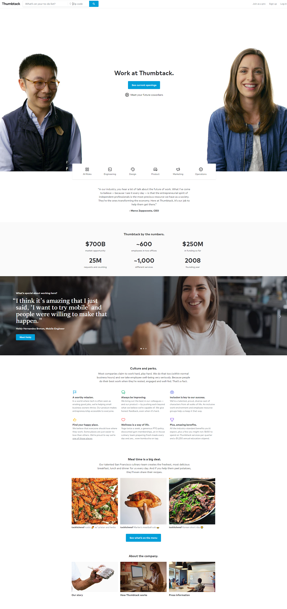 Thumbtack Career Page