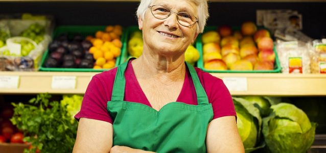 Older Woman Grocery Worker