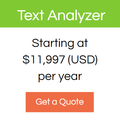 Ongig text analyzer