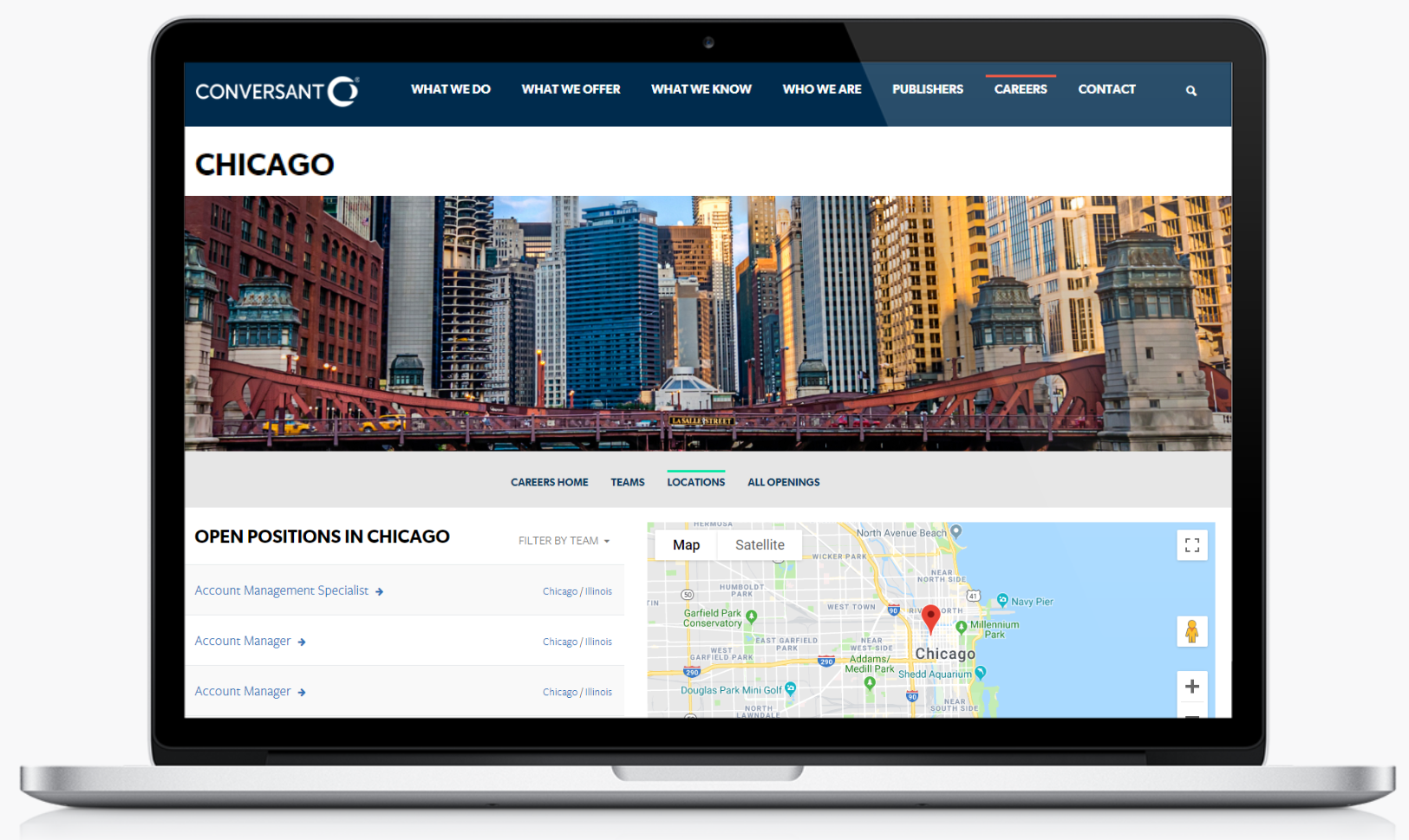 Chicago recruiting microsite