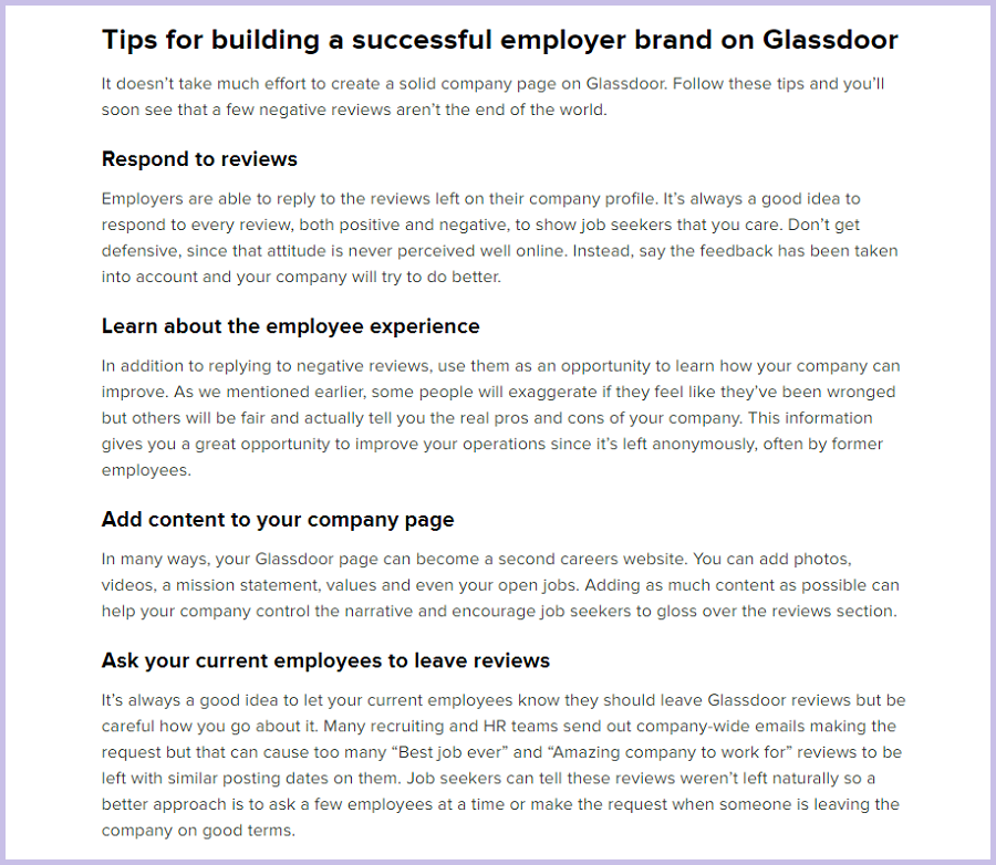 Tips for building a successful employer brand