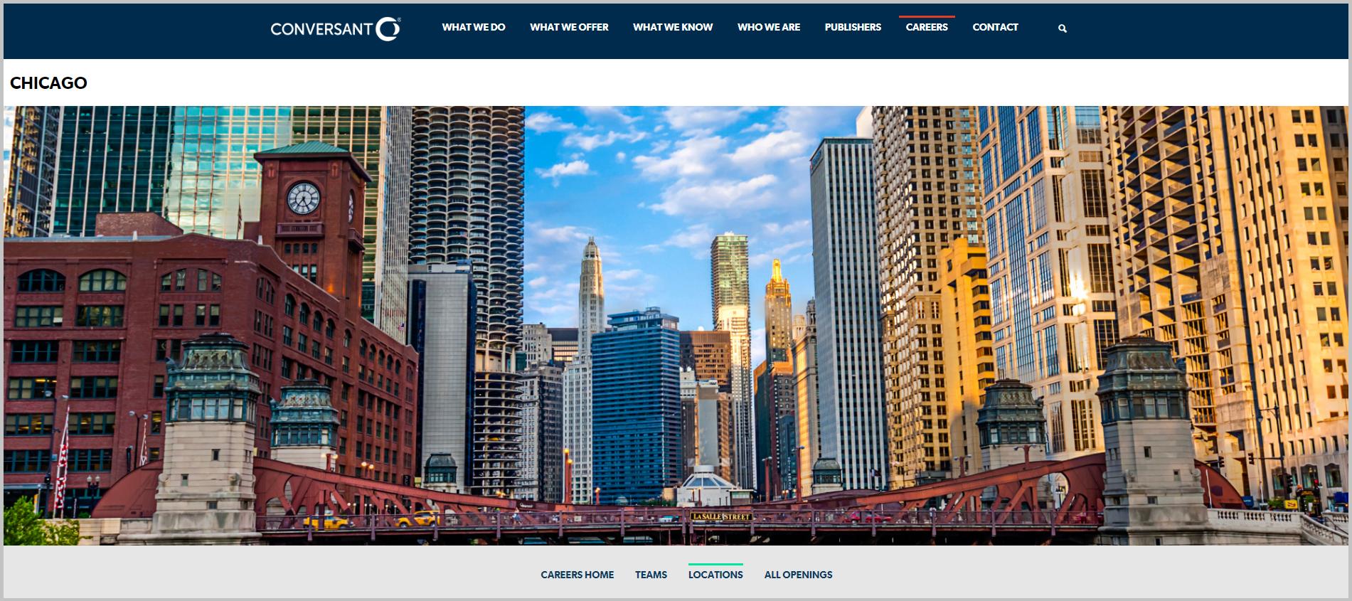 Chicago Recruiting Microsite Feature Media