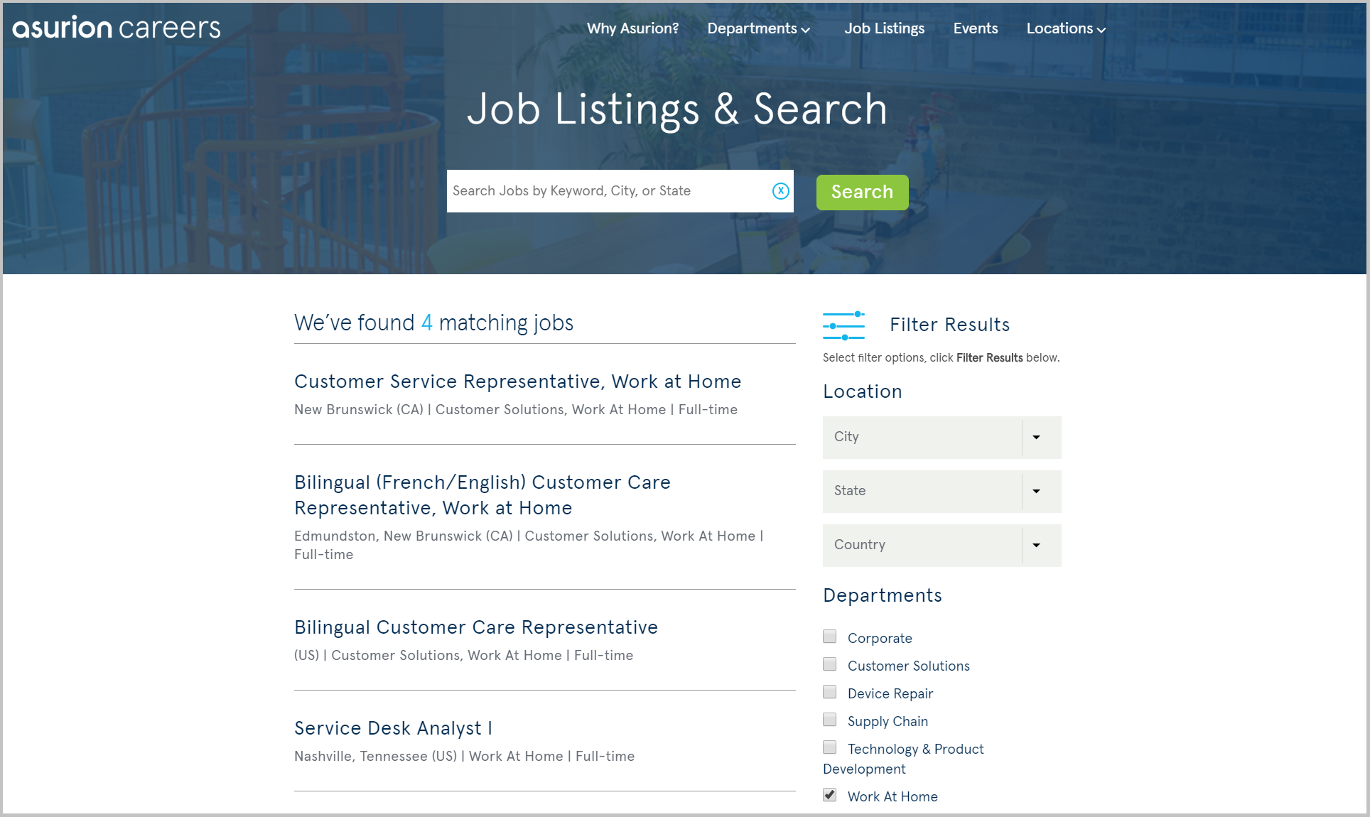 work from home job listings