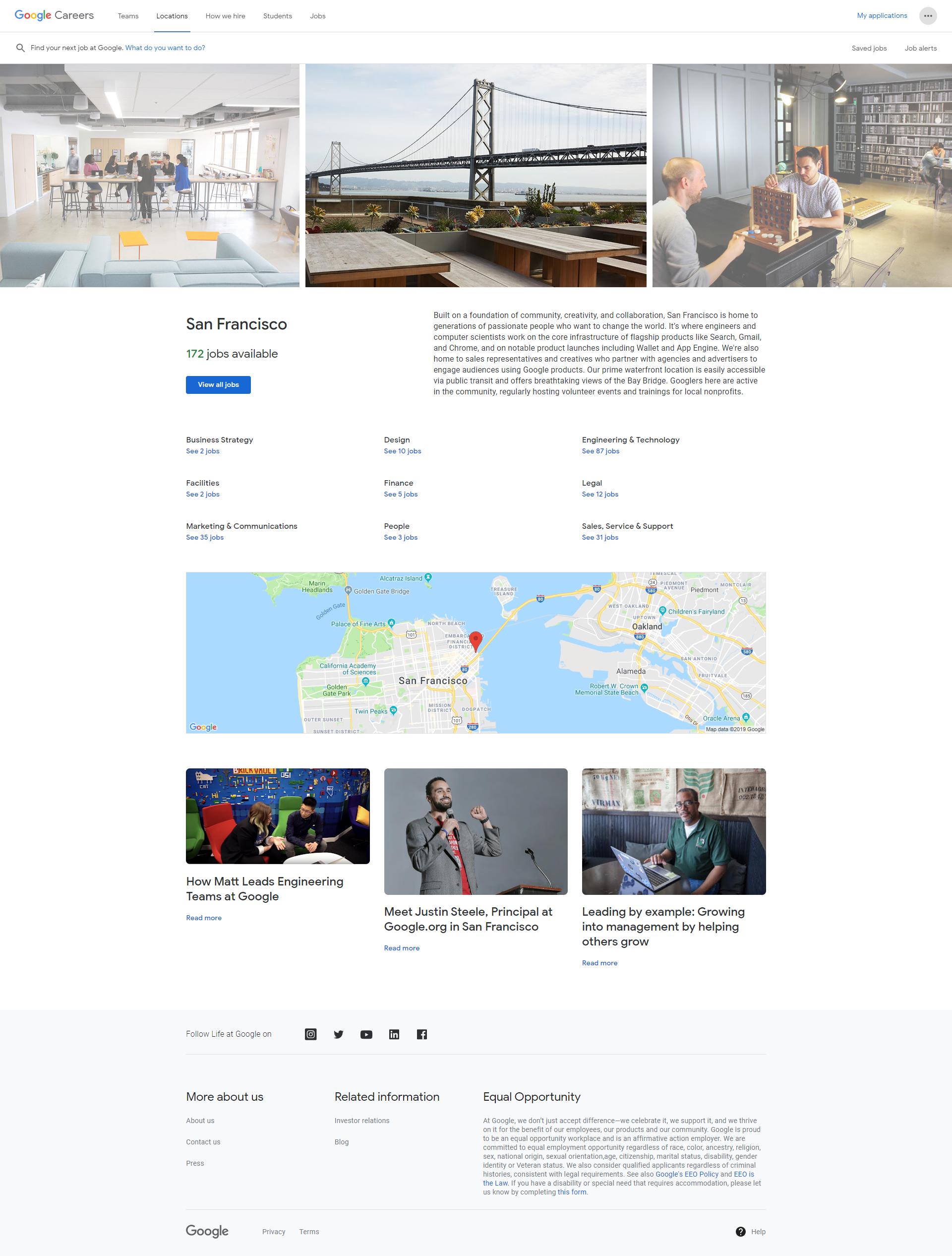 Google San Francisco Recruiting Microsite