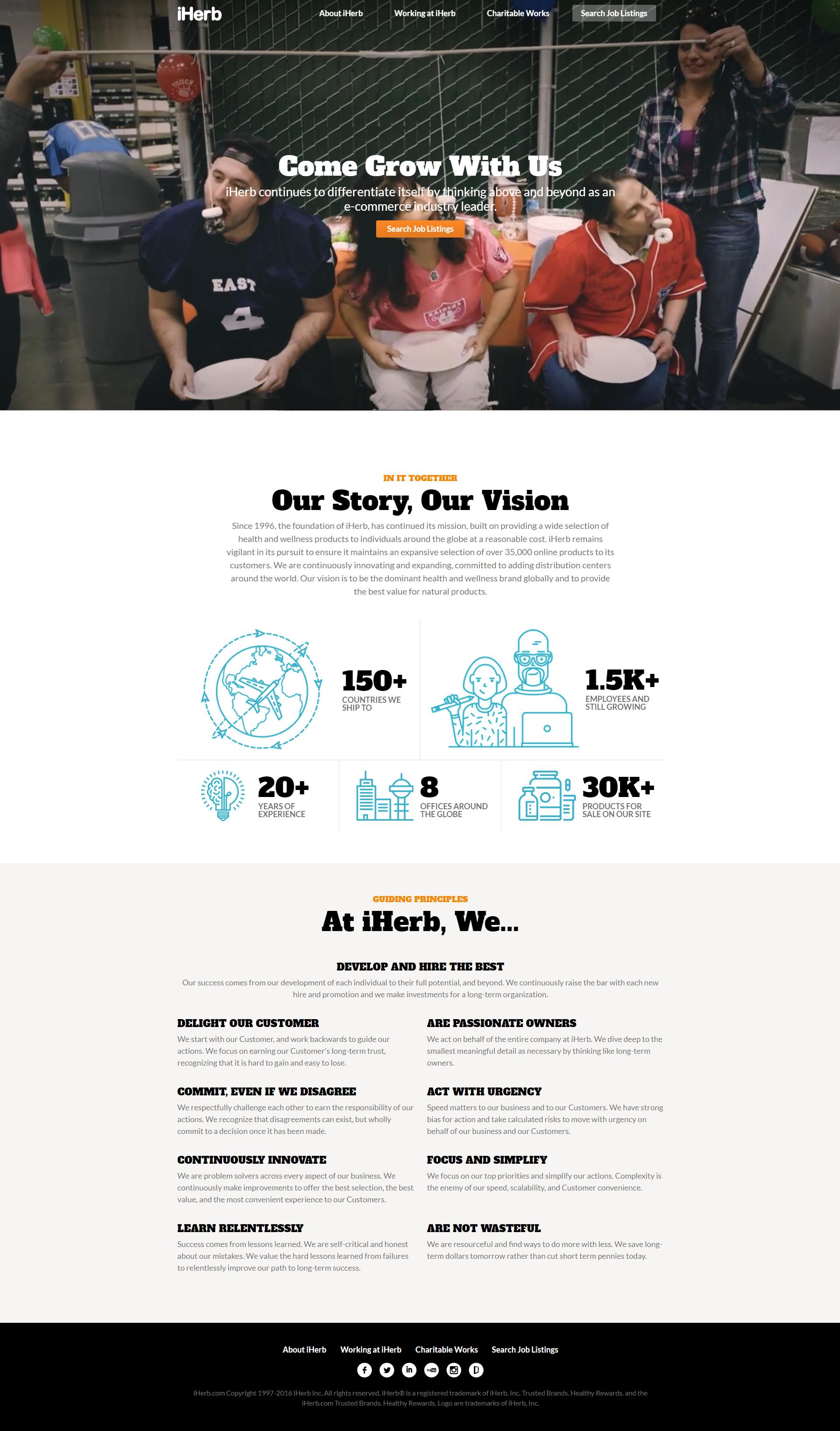 iHerb career page