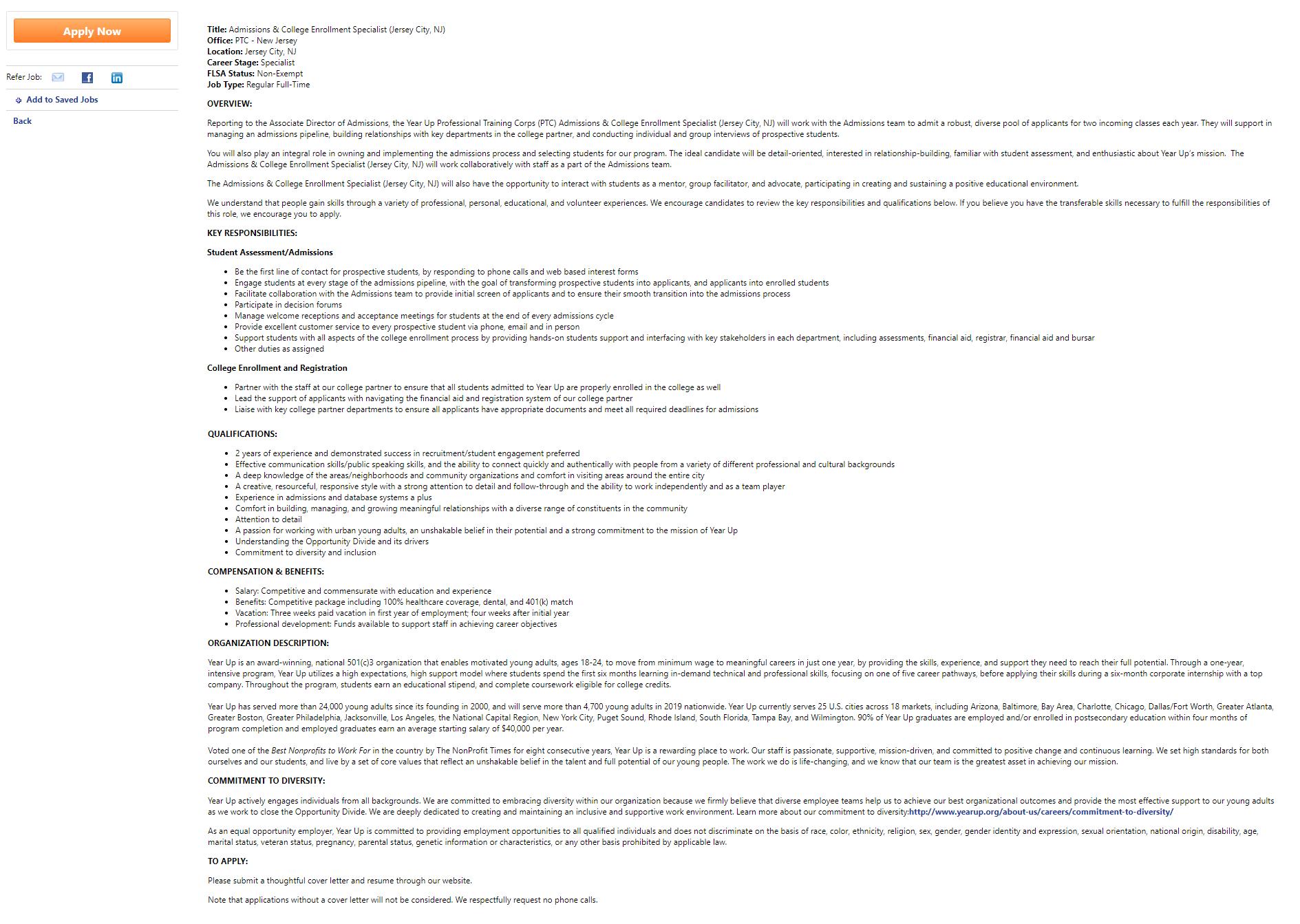 Cornerstone OnDemand Job Page