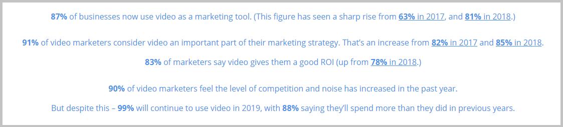 Wyzowl video marketing stats
