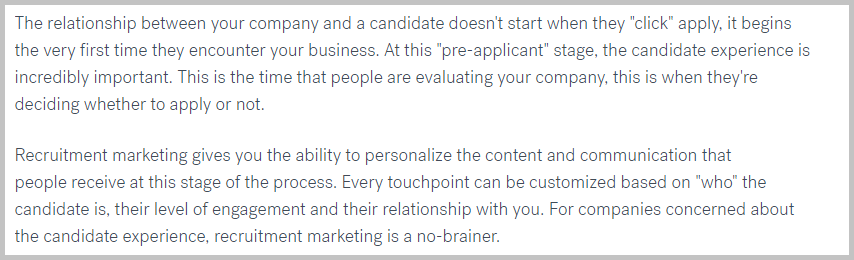 Better candidate experience with recruitment marketing