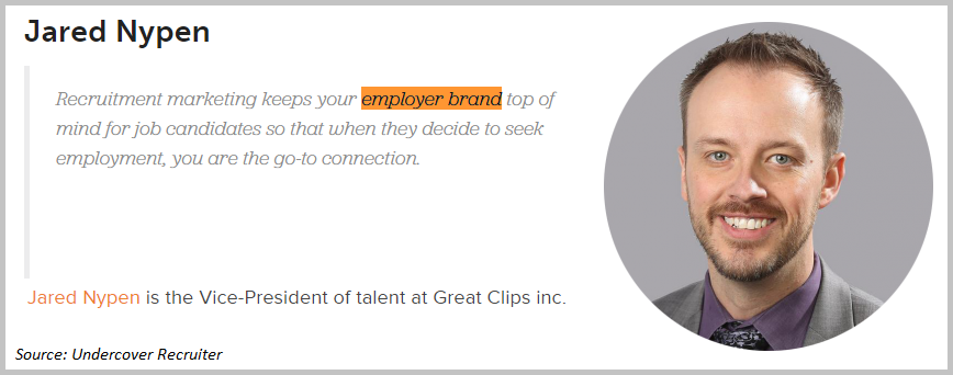 Jared Nypen employer brand quote