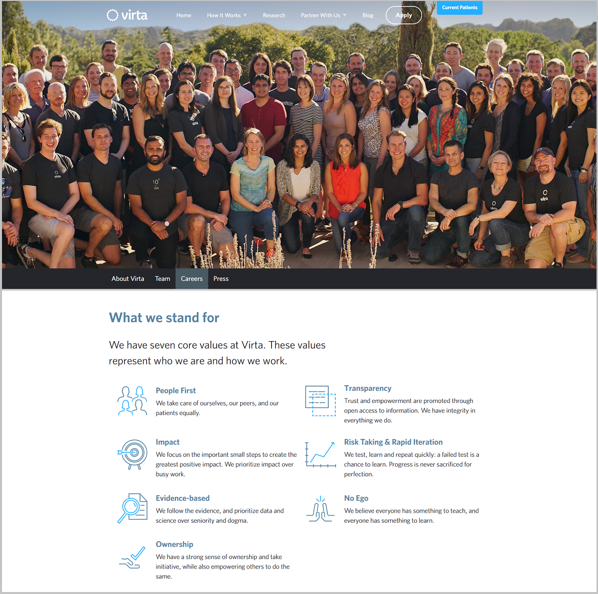virta health company career page