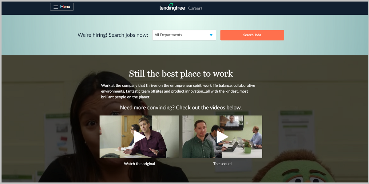 Lendingtree company career page