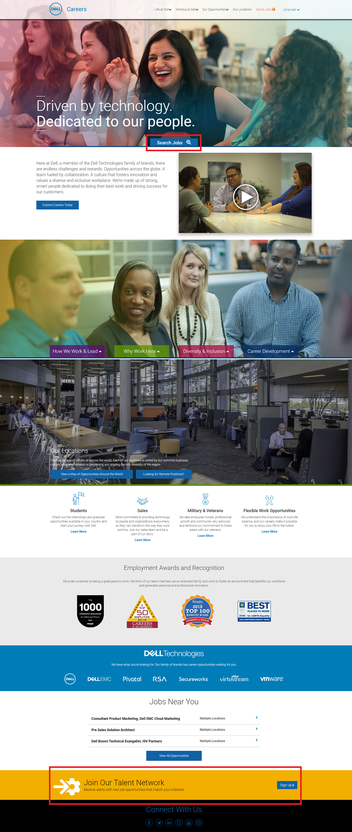 Dell company career page