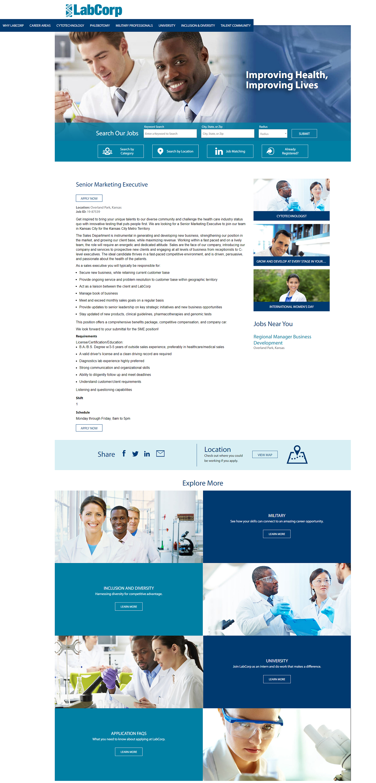 Labcorp job ads