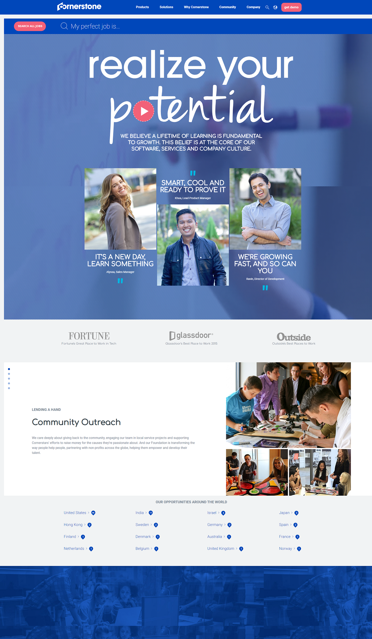 Cornerstone OnDemand careers page