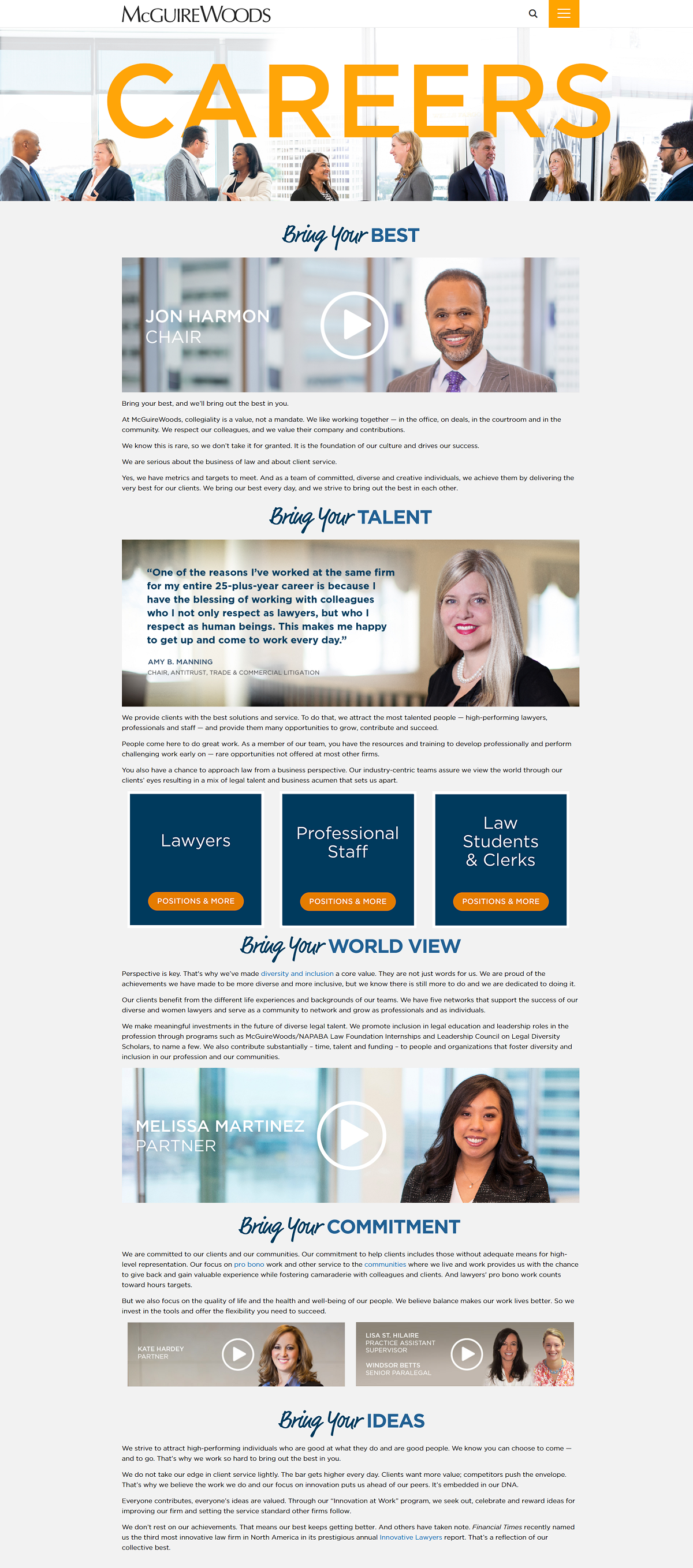 McGuire Woods llp company career page