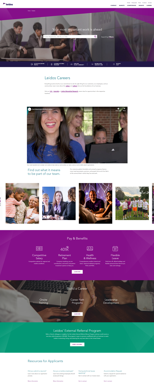 Leidos company career page