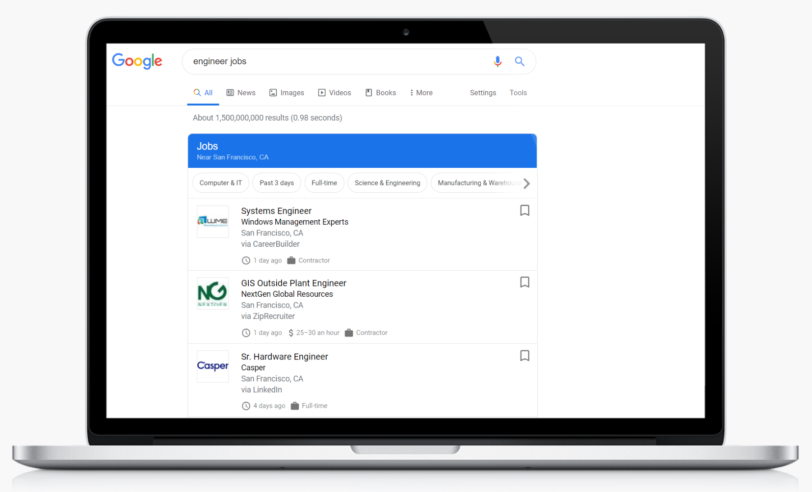 google for jobs candidate search