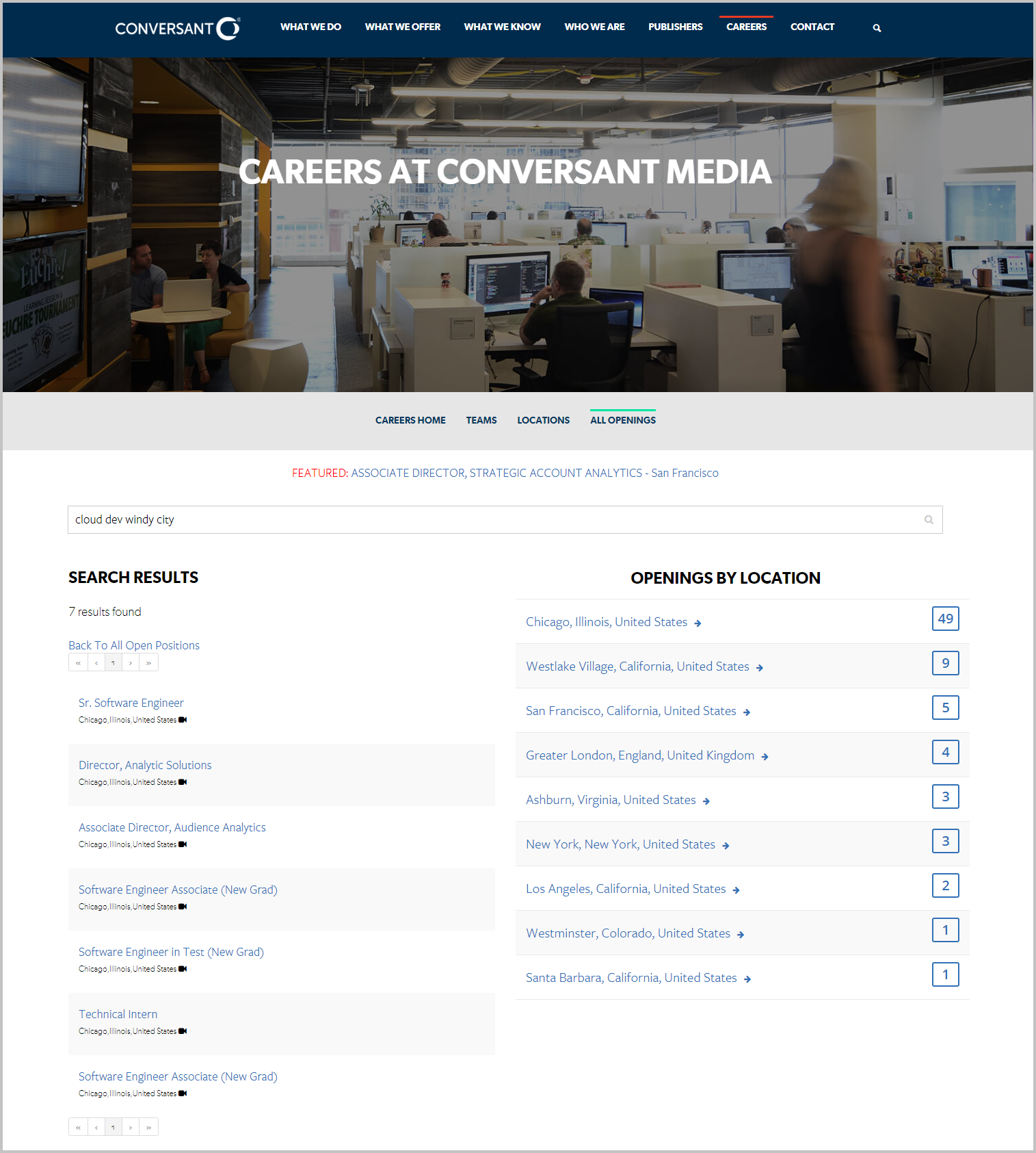 job search for conversant media career site