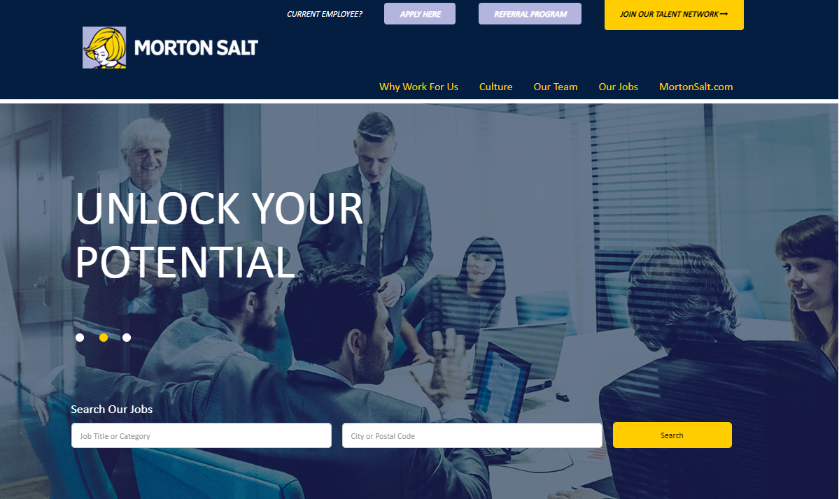 Morton Salt career page