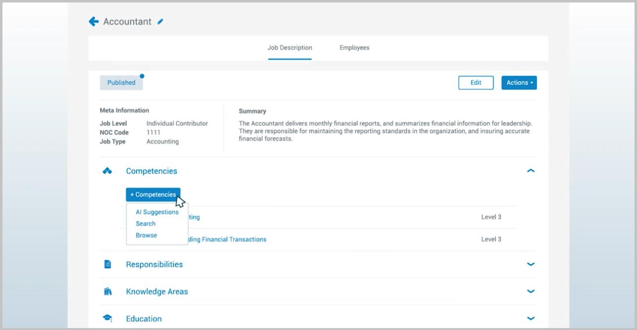 HRSG job description management software