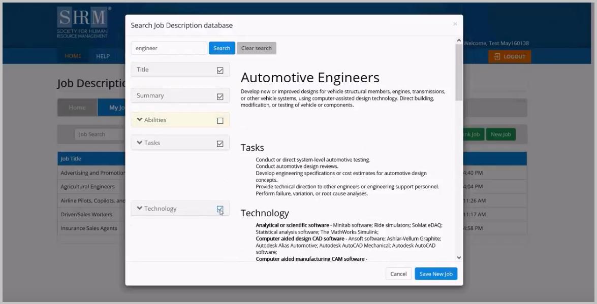 SHRM job description manager software