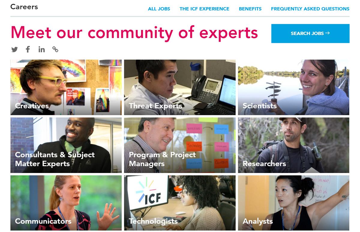 ICF company career page