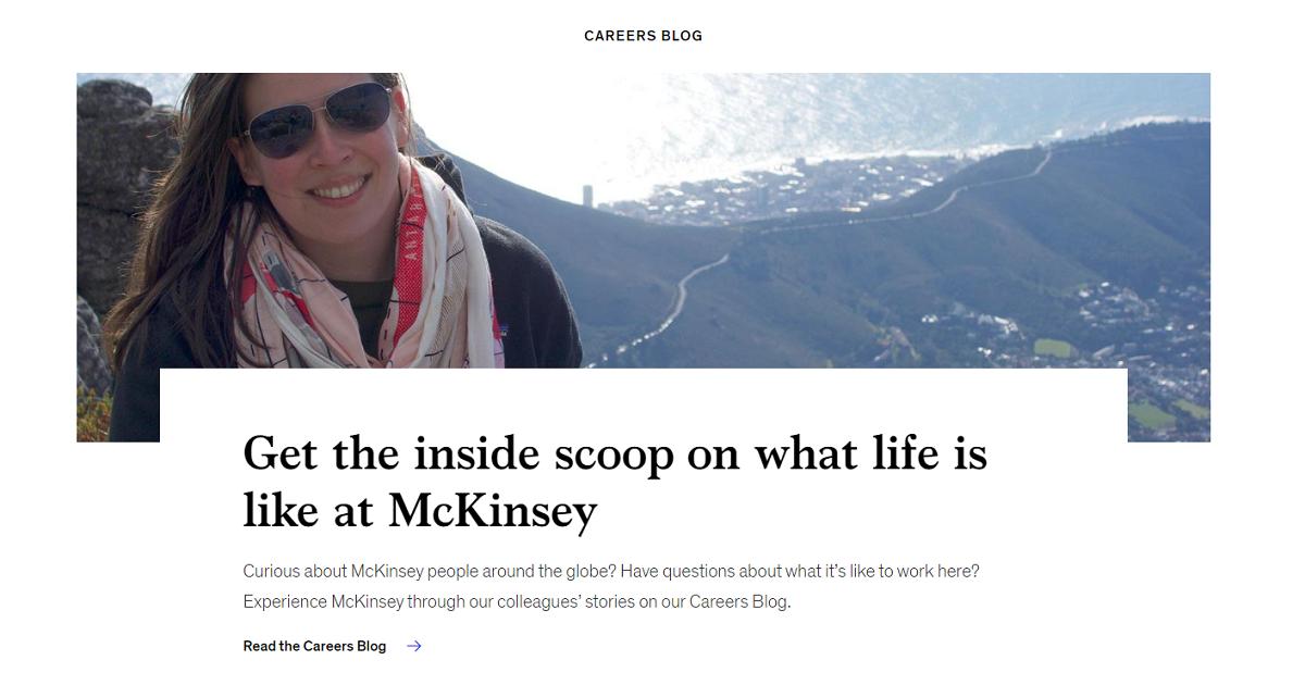 Mckinsey Career page