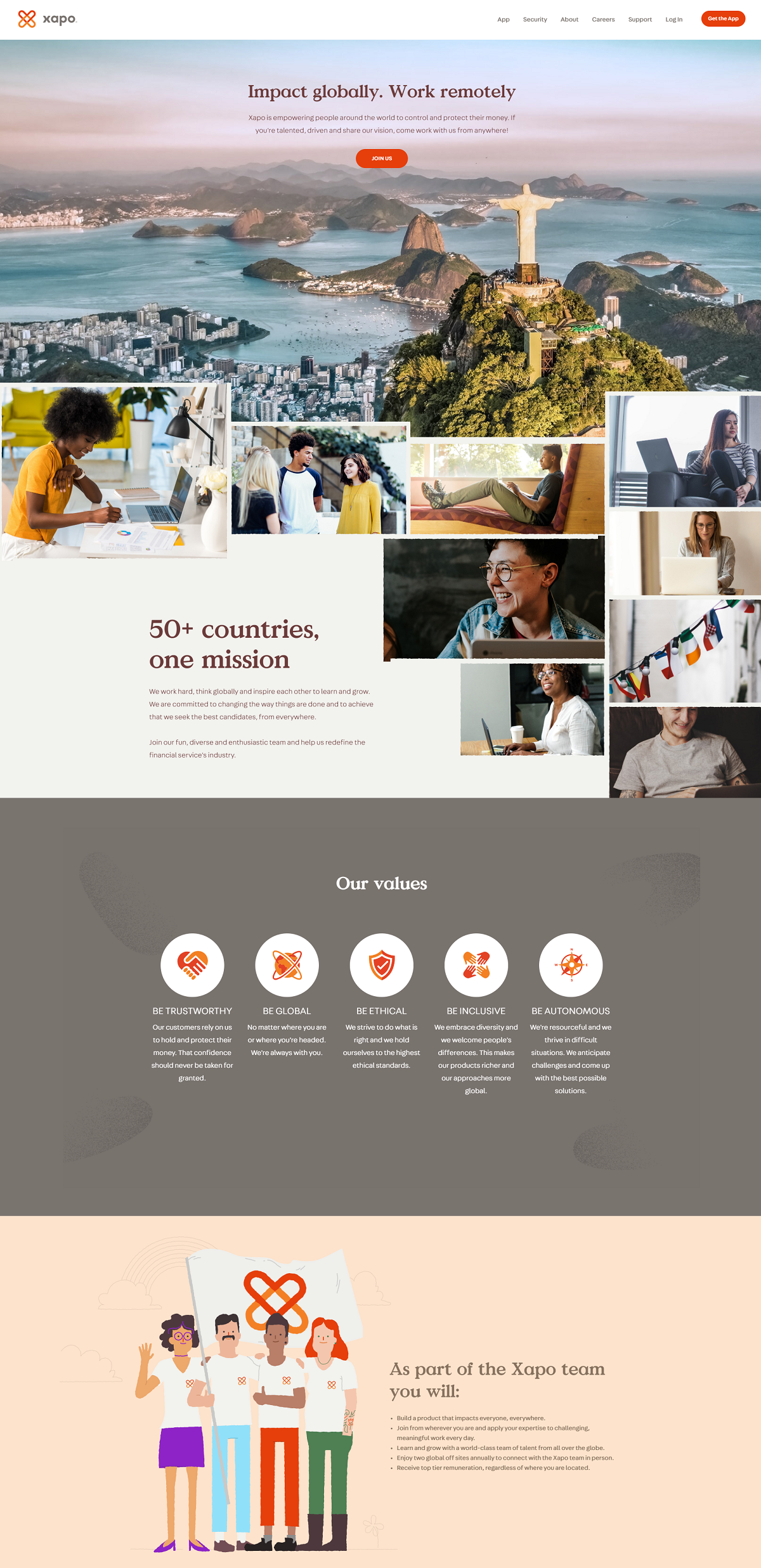 Xapo career page