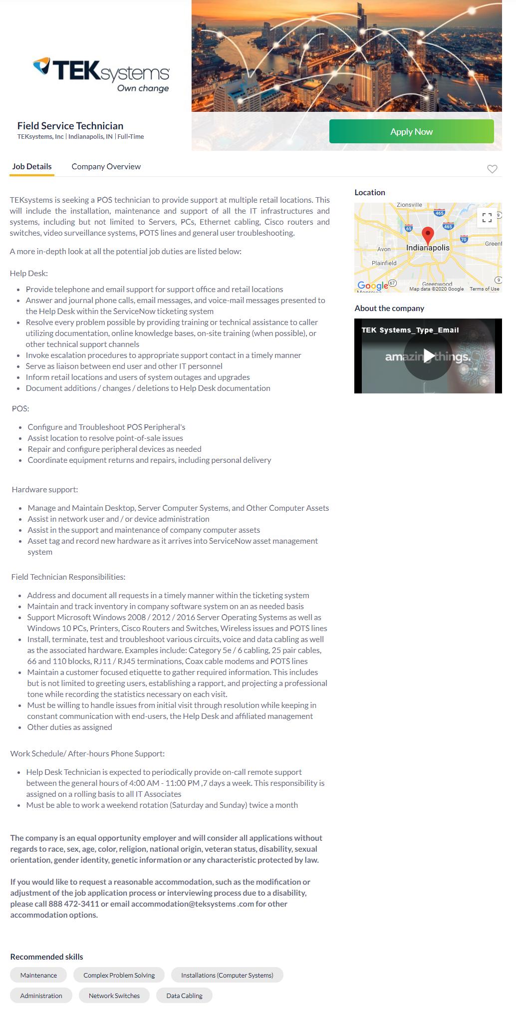 Careerbuilder job search site job posting