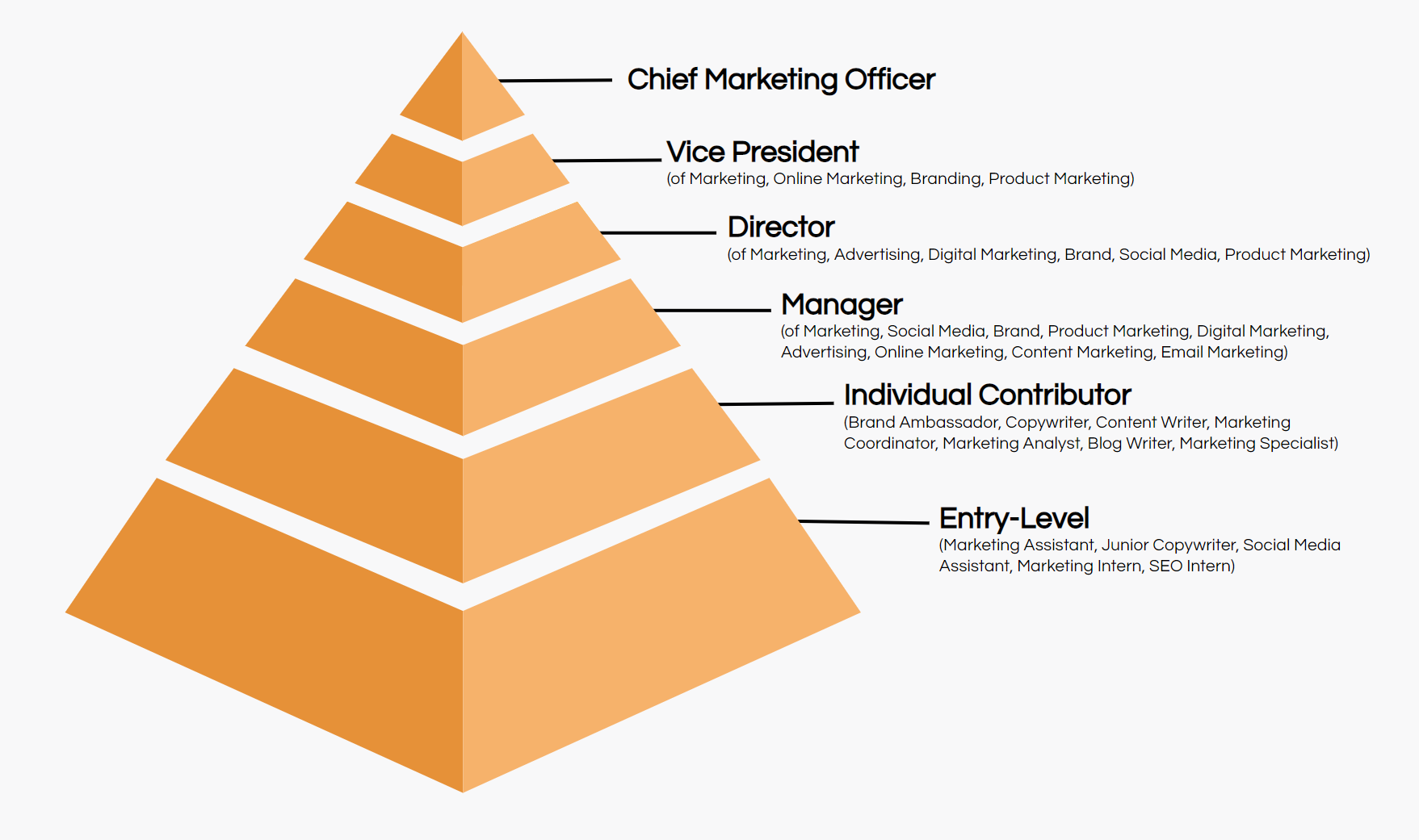 marketing job titles hierarchy