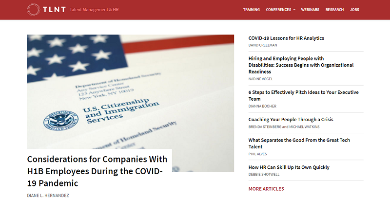 tlnt blog homepage